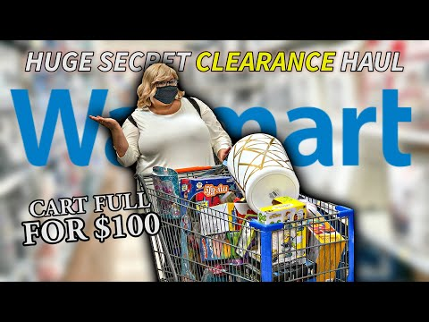$100 Massive Walmart Secret Clearance Haul! *Scan And Shop With Me!*