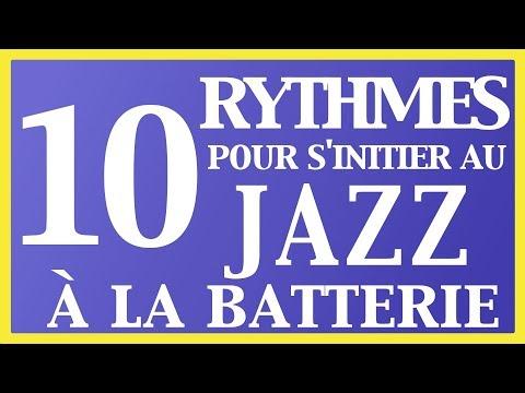 Cours de batterie - 10 Rythmes pour s'initier au JAZZ à la batterie (Swing)