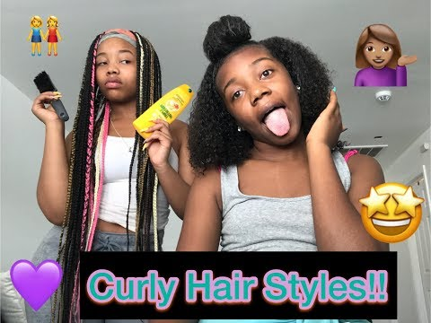 4 EASY Curly Hairstyles ll On Natural Hair