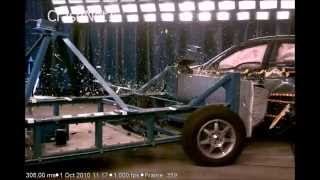 Honda Accord   2012   Side Crash Test   High Speed Camera   NHTSA Full Length Test