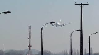 Primer aterrizaje LAN Boeing 787 Dreamliner en Santiago