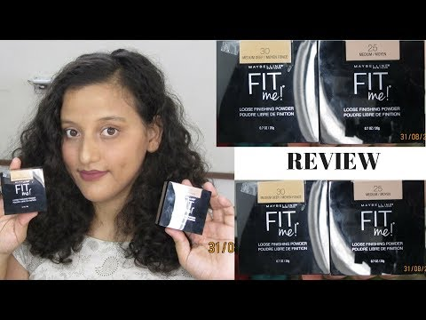 New Maybelline Fit Me Loose Finishing Powder Review, Demo, Swatches And Wear Test