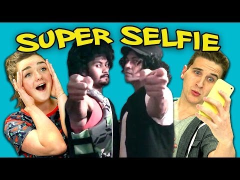 TEENS REACT TO SUPER SELFIE (ft. Maisie Williams)