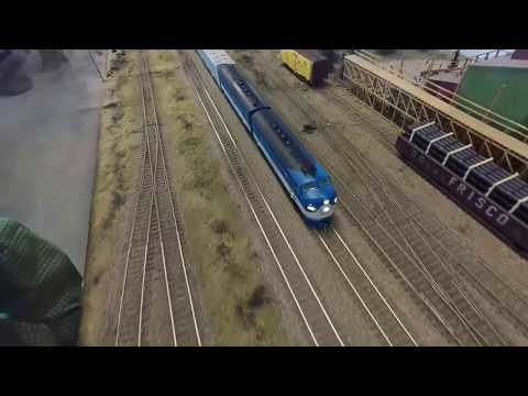 NC&StL F Units Pulling an NC&StL Freight - Tennessee Central Railway Museum HO Layout