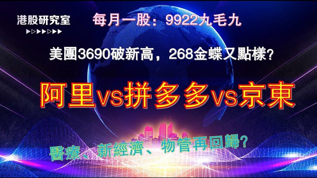 《港股&美股市場及個股分析》#美團3690 #美股 #阿里巴巴 #PDD #京東 #金蝶 2020.05.26 - YouTube