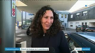 Carburants : baisse des prix au Luxembourg