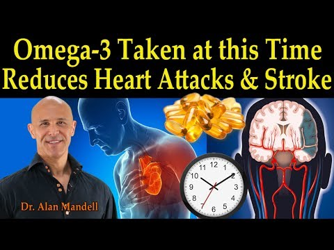 Omega-3's Taken at this Time of the Day Reduces Heart Attack