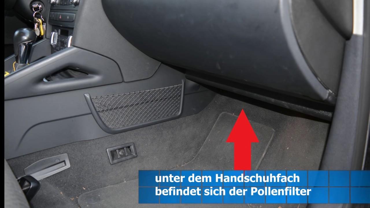 Audi A3 8p Sportback Bj 2009 Pollenfilterwechsel Youtube
