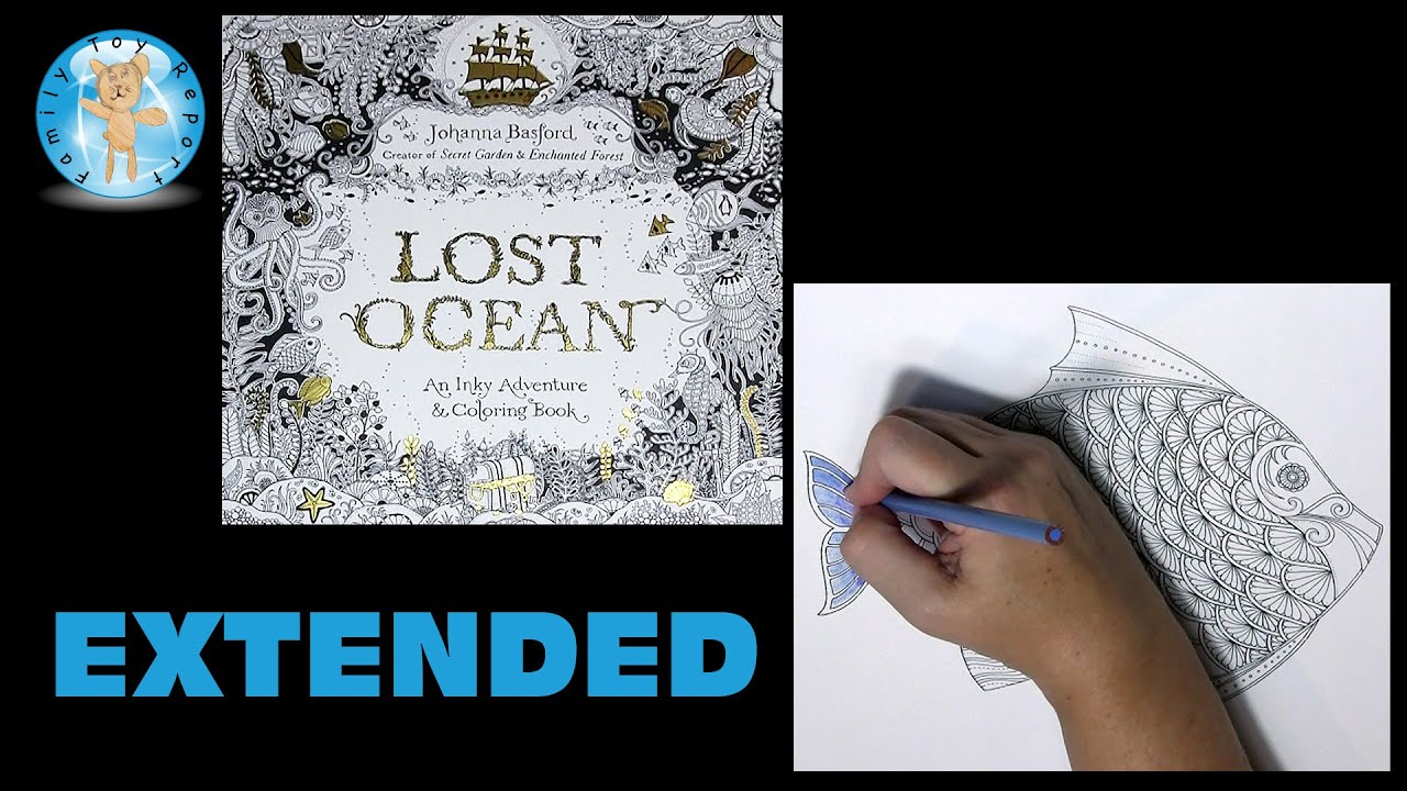 Lost Ocean Johanna Basford Adult Coloring Book Fish Lostocean Pencils Extended