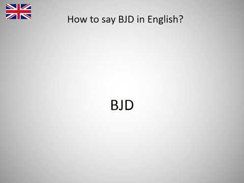 How to say BJD in English?