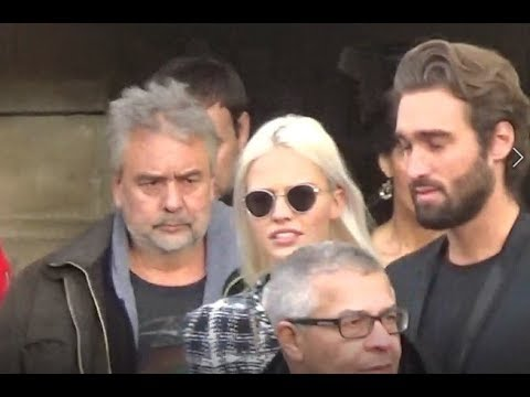 Sasha LUSS & Luc BESSON @ Paris Fashion Week 23 january 2018 show Chanel #PFW janvier