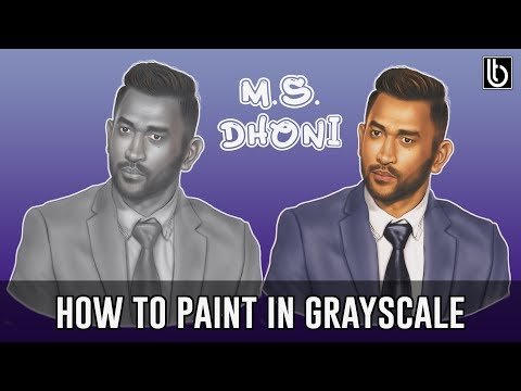 How to Paint in Grayscale and Color using Gradient Map | Adobe Photoshop