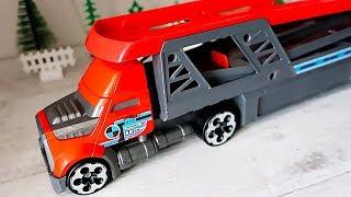 Мультик з іграшковими машинками і автовозом. Машини для дітей