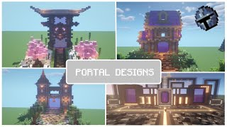 8 Minecraft Nether Portal Designs ( World Download in the description)