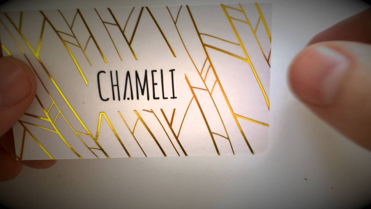 Gold foil business cards YouTube