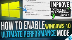 ? How to Enable Windows 10 ULTIMATE Performance mode Guide