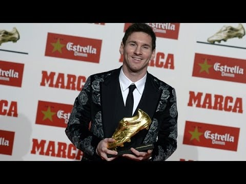Lionel Messi wins Golden Boot award for most goals in European league
