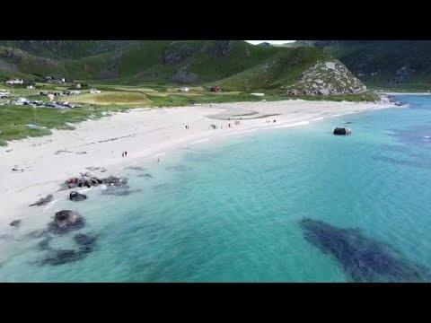 Haukland, para muchos la playa más bella de Europa, solo es apta para valientes