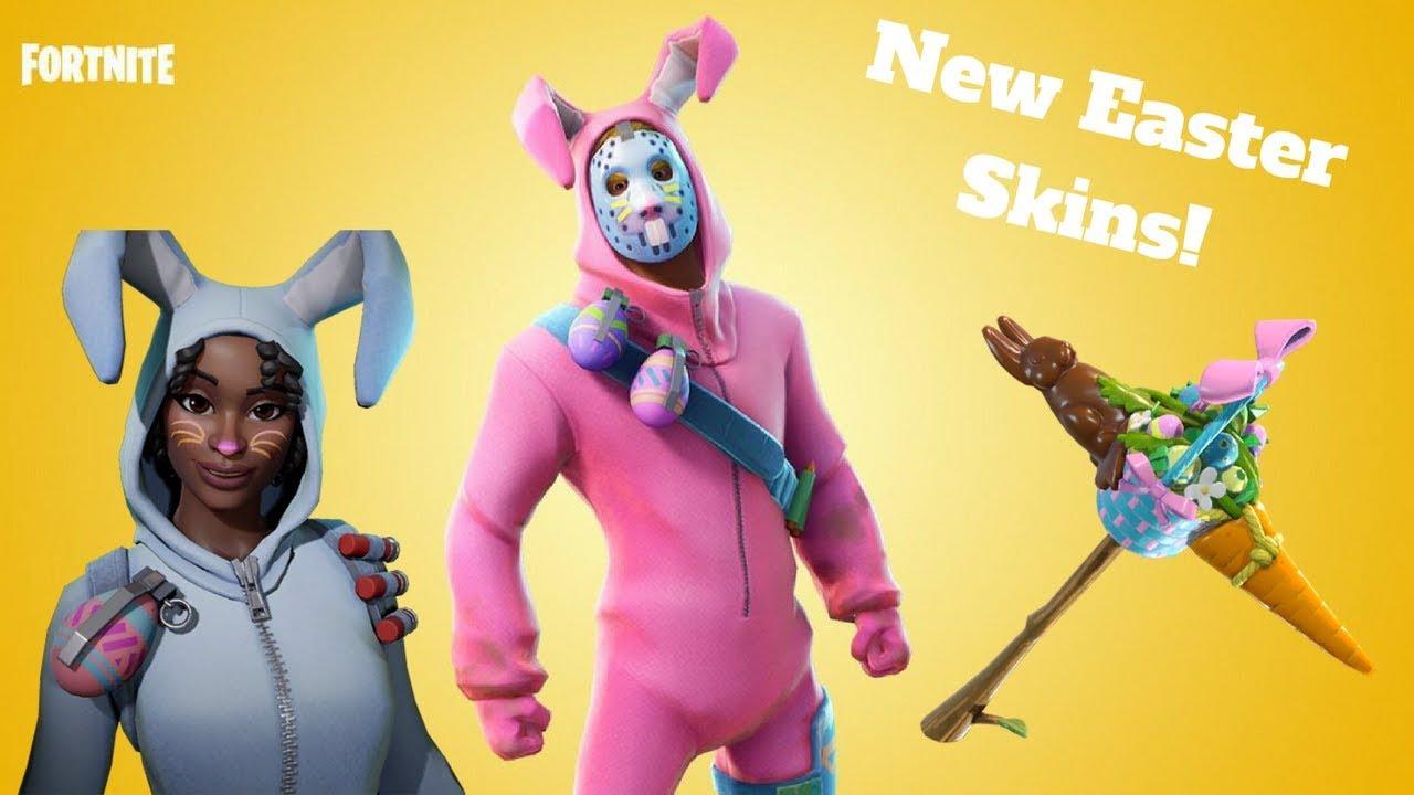 New fortnite easter skins rabbit raider bunny brawler carrot stick youtube - Fortnite bunny brawler ...