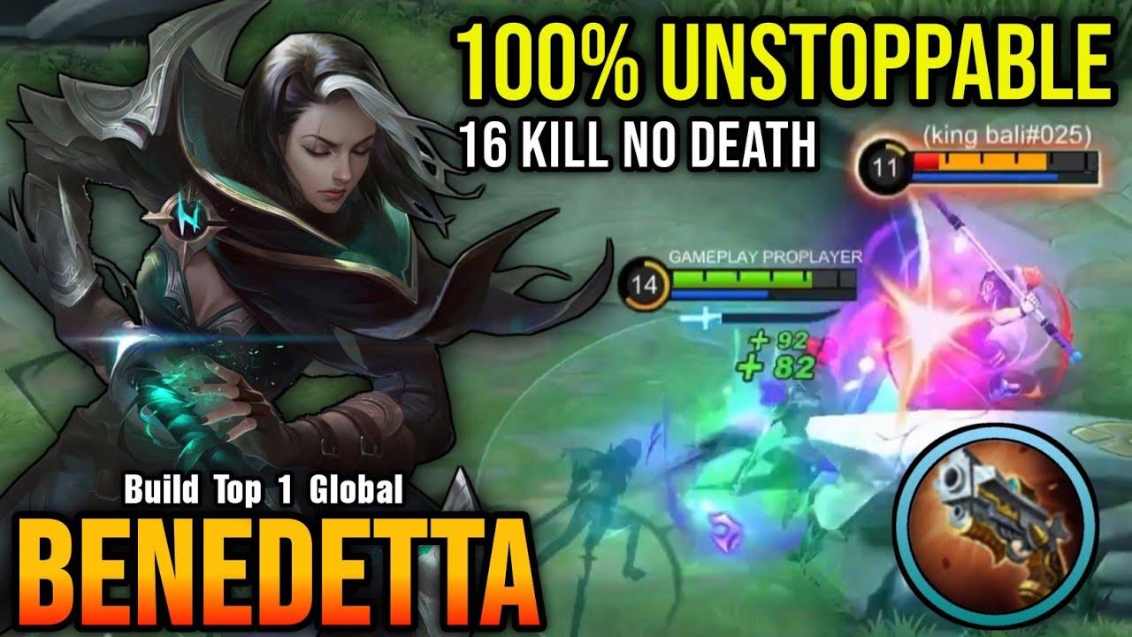 16 Kills No Death!! Benedetta 100% Unstoppable - Build Top 1 Global Benedetta ~ MLBB
