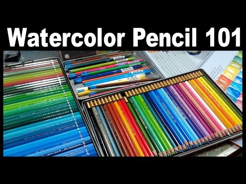 LIVE! Watercolor Pencil 101 // 12:30pm ET Today!