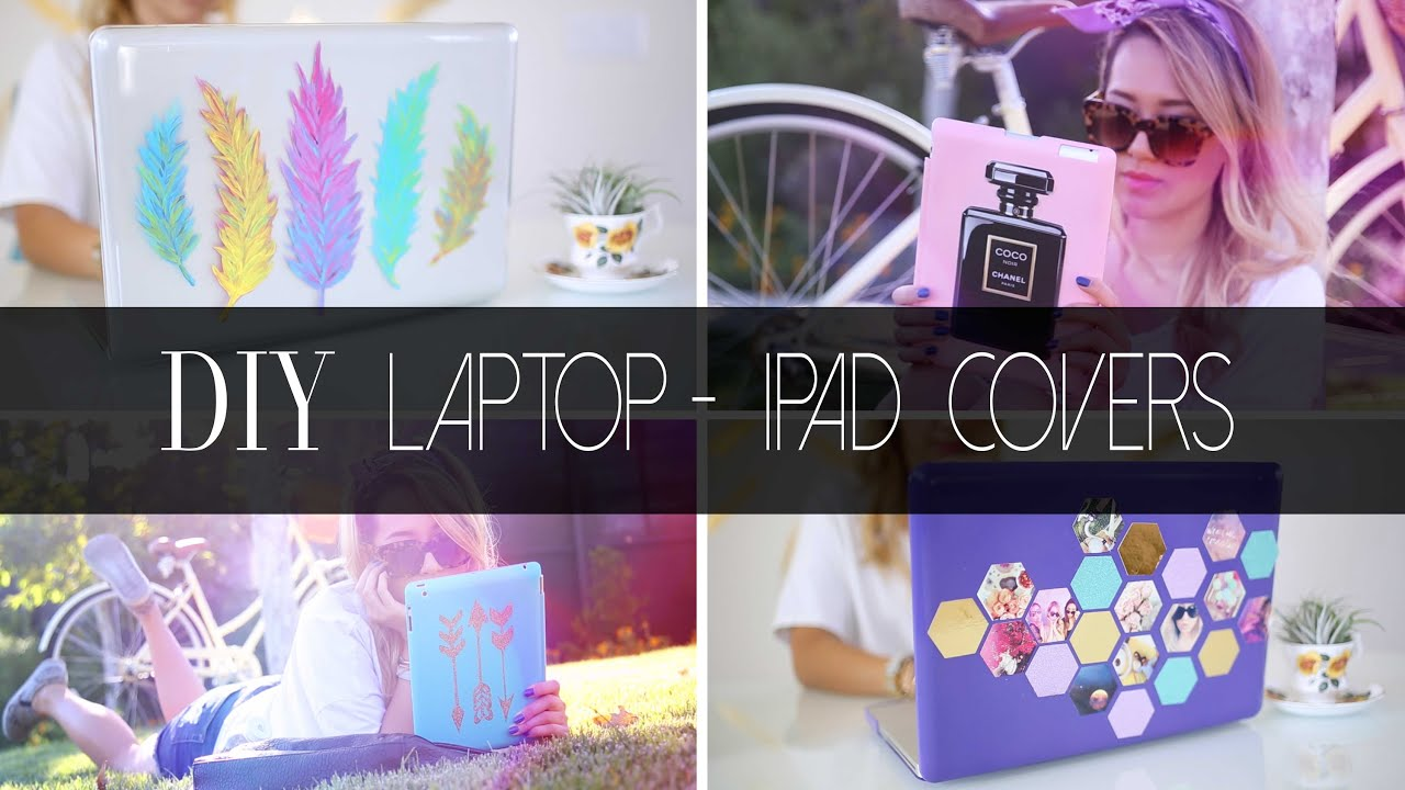 How To Make A Book Cover On Computer ~ Diy easy and cute laptop ipad covers ann le youtube