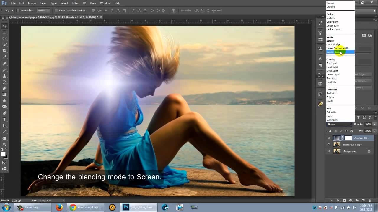 Photoshop Light Leaks Tutorial - YouTube