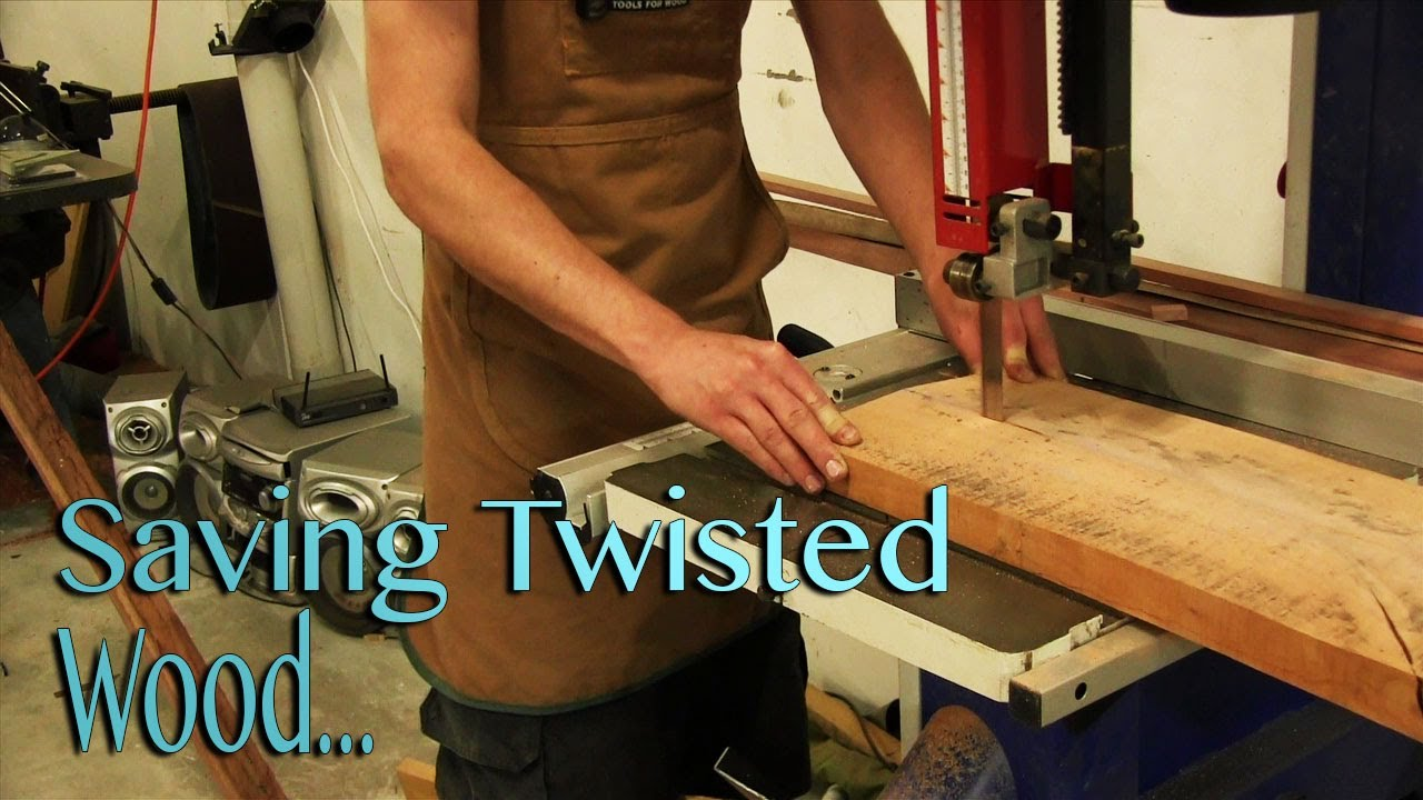 Saving Wood - Saving twisted and warped boards - YouTube