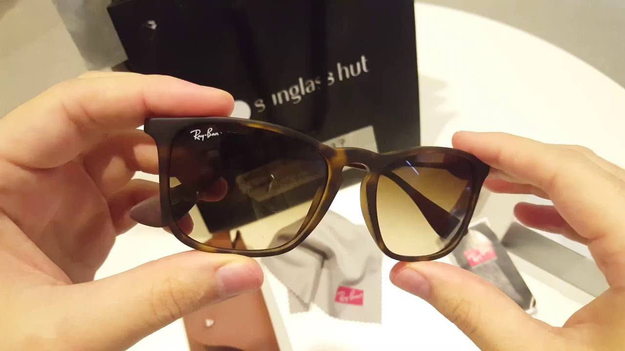 ed13f3abeac Unboxing original Ray Ban Chris RB4187  4K  - YouTube