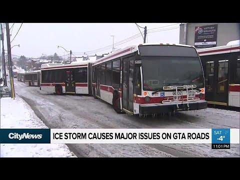 Ice storm wreaks havoc on GTA roadways