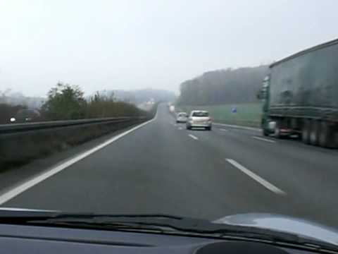 Porsche Boxter on German Autobahn 175mph