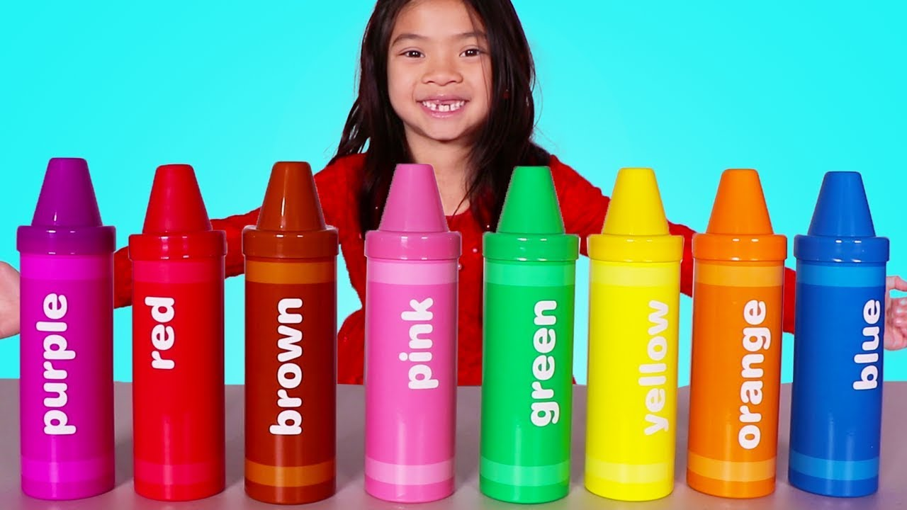 Emma Plays With Big Crayon Toys Fun Learn Colors Video For