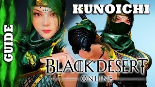 Black Desert Online - Guide - Kunoichi : S.Sword & Kunai, String of Attacks