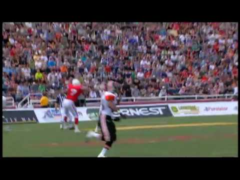 Jarious Jackson touchdown pass to Geroy Simon in Montreal - September 13, 2009