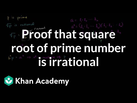Proof that square root of prime number is irrational   Algebra I   Khan Academy