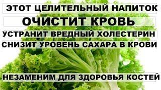 ЦЕЛИТЕЛЬНЫЙ НАПИТОК устранит вредный ХОЛЕСТЕРИН,улучшит состав крови Лечебные свойства салата(латук)