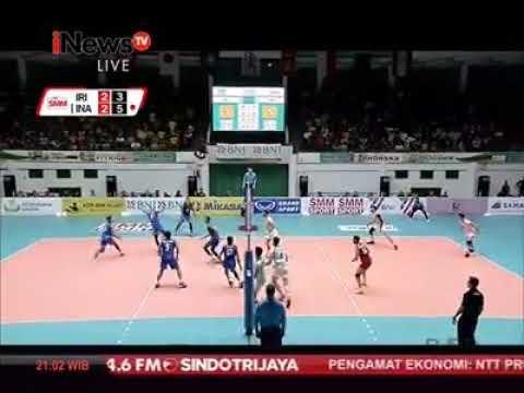 INDONESIA VS IRAN VOLLY BALL