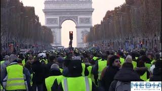 Les GILETS JAUNES mettent Paris sous Haute Tension  17-11-2018