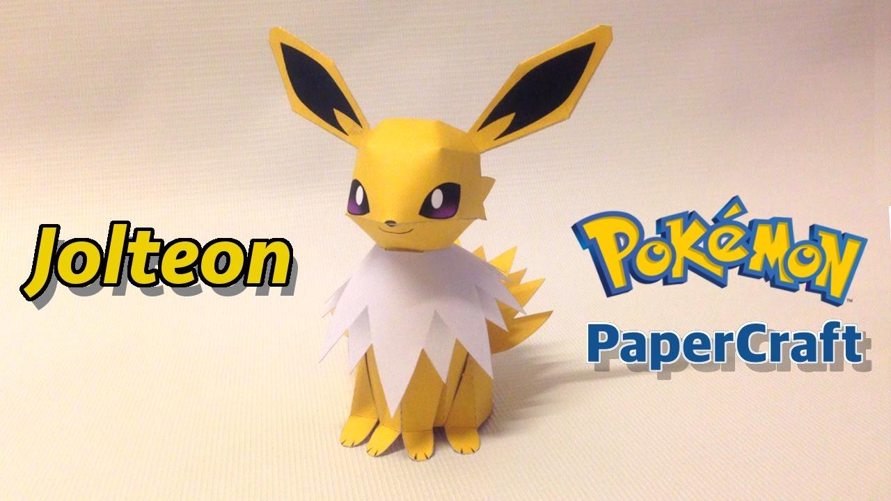 How To Make Jolteon Pokemon Papercraft Youtube