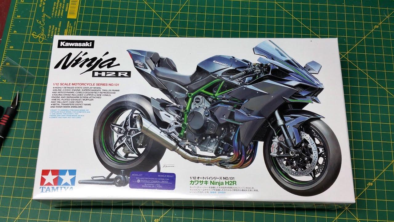 Tamiya Kawasaki Ninja H2r 112 Kit Review Whats In The Box Youtube