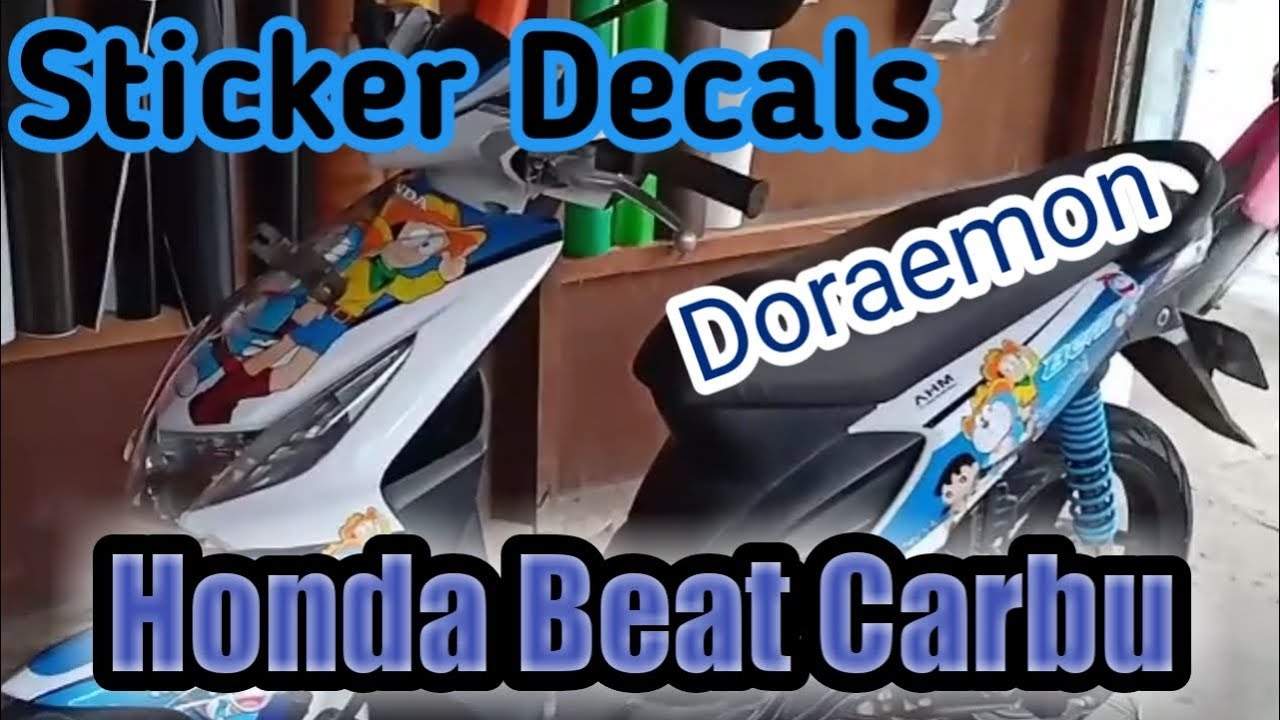 Cutting stiker honda beat carbu stiker decals doraemon eps32
