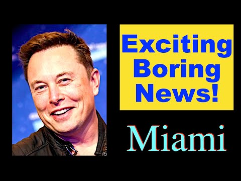 Exciting Boring News: Elon Musk and Miami Vice