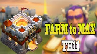 *FARM TO MAX TH11* UPGRADE QUEEN SUPER FAST! | Clash of Clans Let's Play TH11 Ep 1