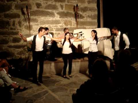Naxos - music and dancing at the Venetian Castle - Sunset concert
