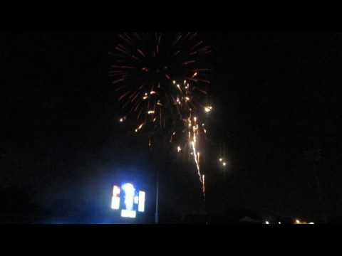 Montgomery Biscuits Firework Show After Game verse The Birmingham Barons In Montgomery