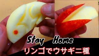 【Stay Home】リンゴで 2種のウサギ 飾り切り
