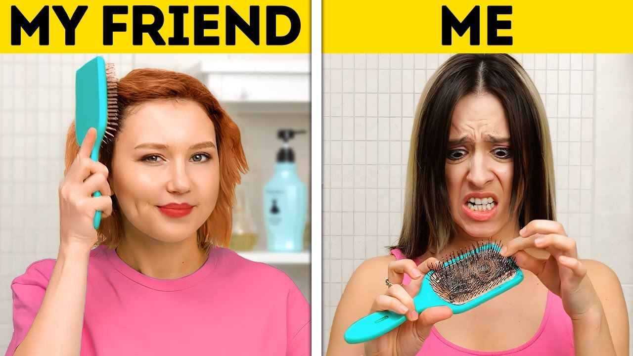 ME VS. BEST FRIEND || Random Hacks For Any Situation || Household, Cleaning And Kitchen Tricks