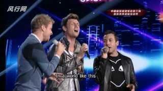 Backstreet Boys @X-Factor China singing Acapella (iawlt+everybody+iwitw)