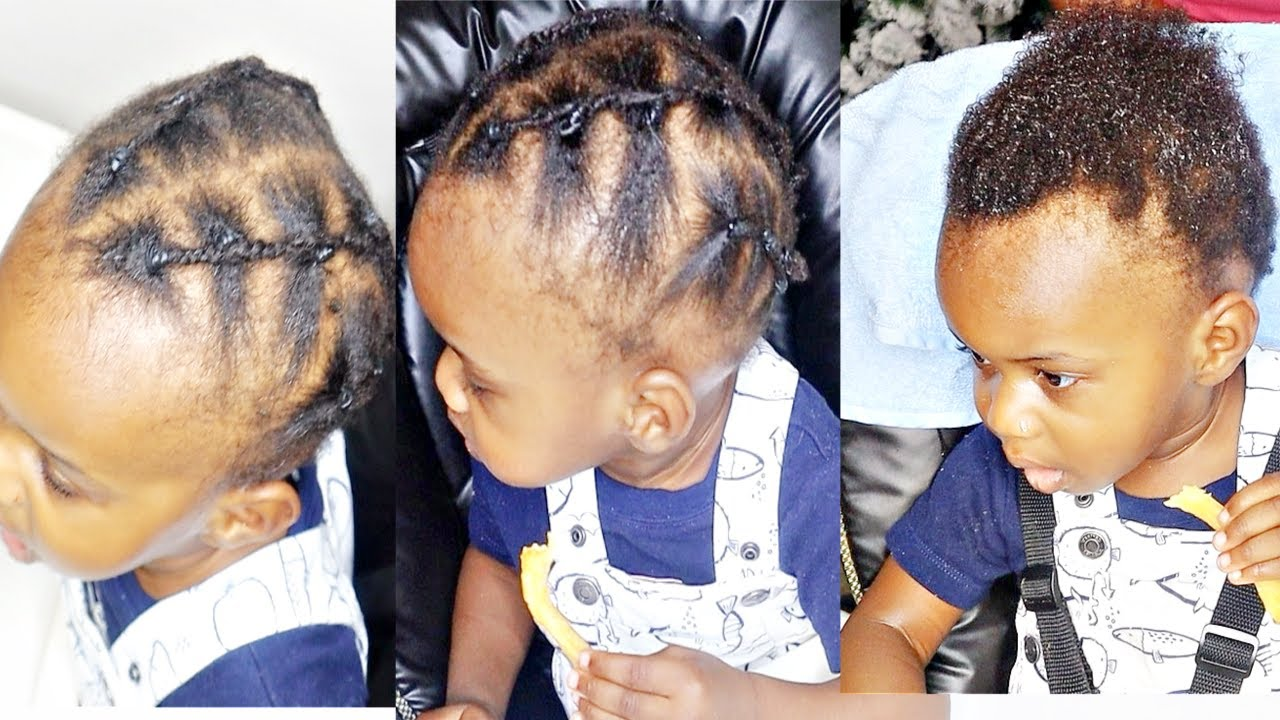 EASY PROTECTIVE HAIRSTYLE FOR SHORT HAIR   TODDLER BOY HAIRSTYLES FOR CURLY  & NATURAL HAIR