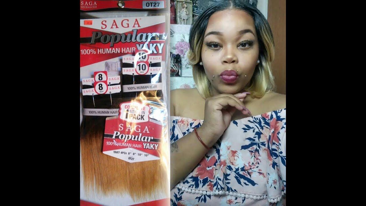 Saga Popular 100 Human Hair Yaky Hair Review Install And Style
